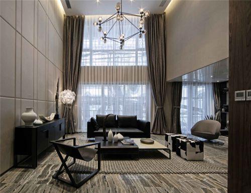 咖啡色系内敛奢华简欧风格客厅效果图