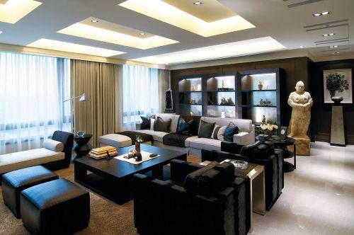 中式风格四居室客厅沙发装修效果图大全