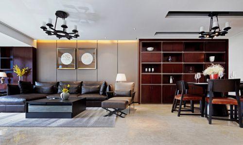 中式风格白色客厅吊顶装修效果图