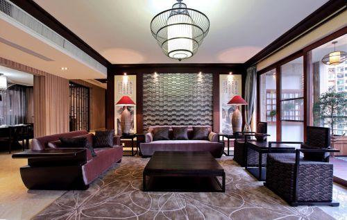 中式风格霸气稳重客厅装修效果图