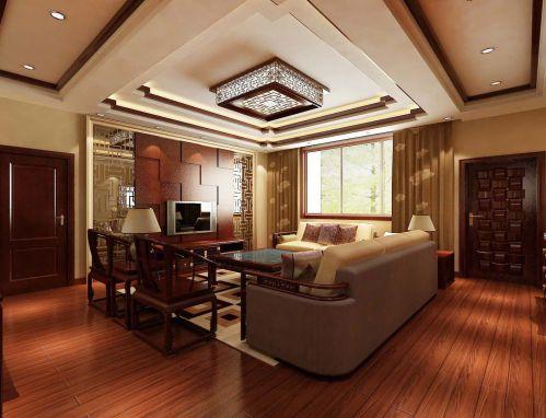 时尚客厅中式古典主义风格装修效果图