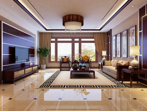 中式风格四居室客厅装修图片欣赏