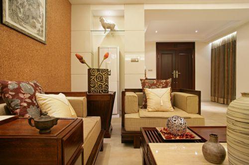 禅意中式三居宁静雅致客厅装修效果图