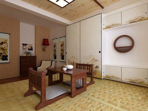 经典中式古典客厅原木色茶几装修效果图