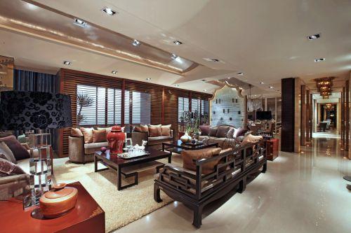 气质雅韵中式风格客厅装修设计