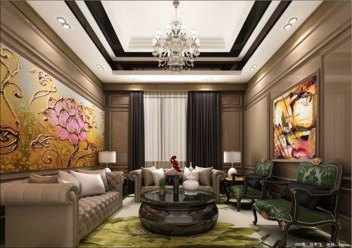 中式风格别墅客厅装修效果图大全