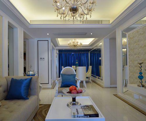 中式风格二居室客厅壁纸装修效果图大全
