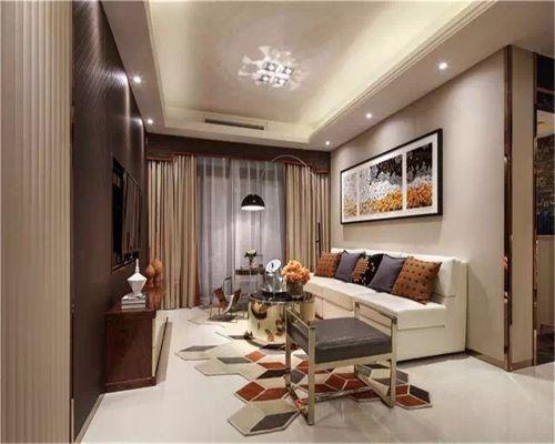 中式风格三居室客厅隔断装修效果图欣赏