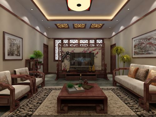 中式古典其它客厅隔断装修效果图欣赏