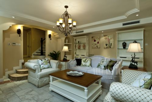 中式古典别墅客厅装修效果图大全