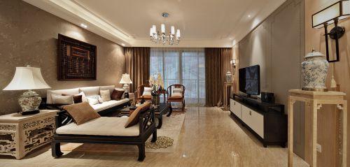 中式风格四居室客厅沙发装修效果图欣赏