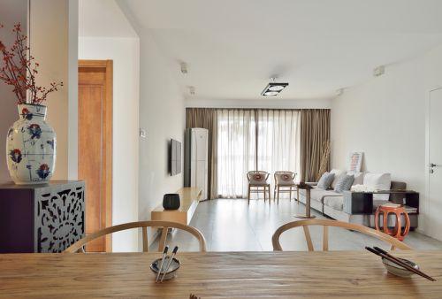 中式风格三居室客厅隔断装修效果图