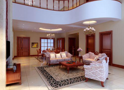 中式风格别墅客厅电视柜装修效果图大全
