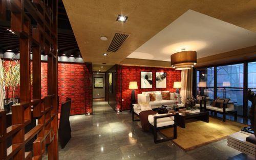 150平米中式风格家装客厅吊顶效果图