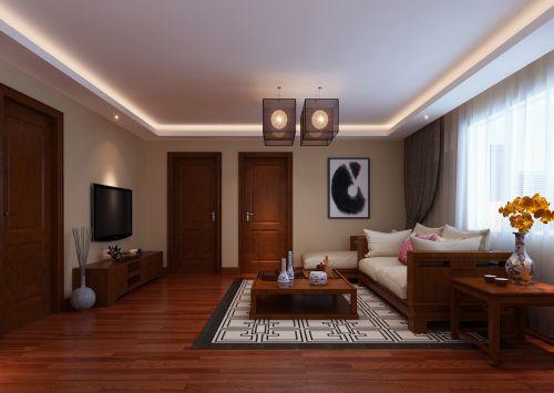 中式风格二居室客厅沙发装修效果图大全