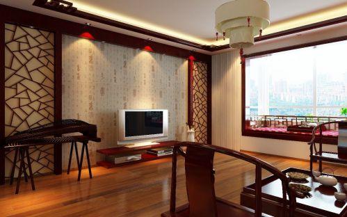 中式古典三居室客厅茶几装修图片