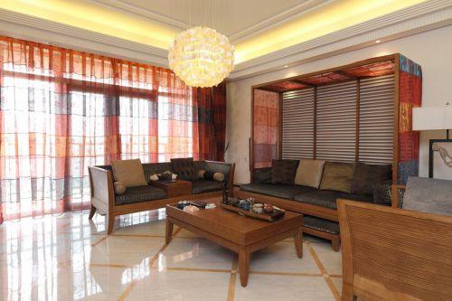 中式古典二居室客厅装修效果图欣赏