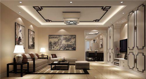 新中式风格二居室客厅装修图片