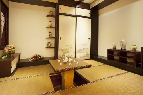 中式古典别墅客厅餐桌装修效果图大全