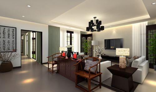 中式风格别墅客厅沙发装修图片