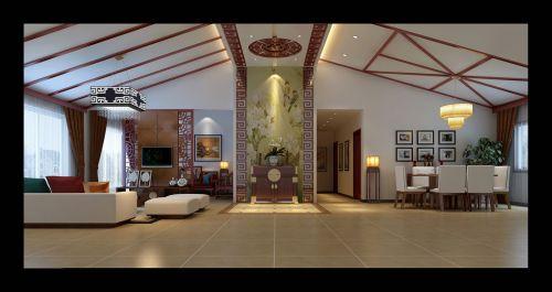 中式风格四居室客厅装修图片