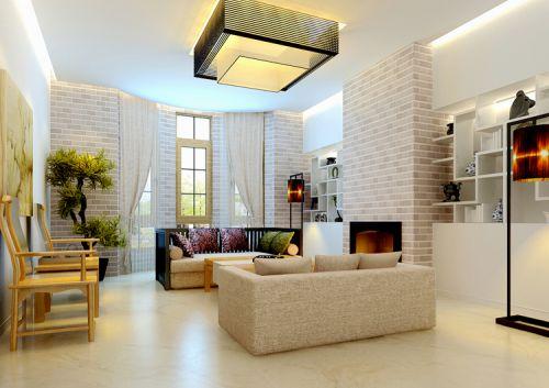 中式风格六居室客厅背景墙装修效果图