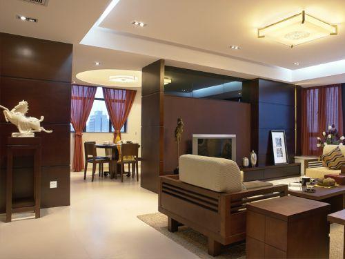 中式古典三居室客厅沙发装修效果图大全