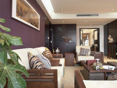 中式古典三居室客厅沙发装修图片