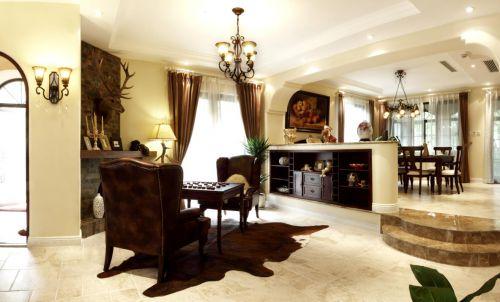 中式古典六居室客厅装修效果图
