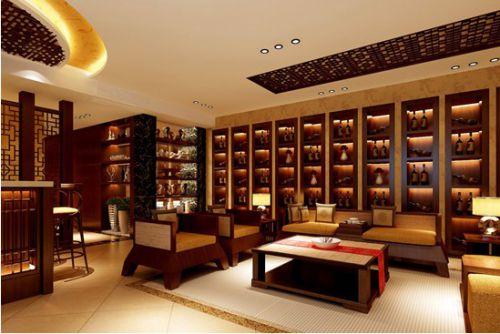 中式风格四居室客厅装修效果图欣赏