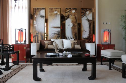 中式古典客厅装修图片