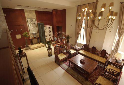 中式古典别墅客厅装修图片