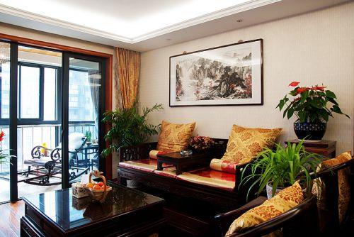 中式风格三居室客厅装修图片欣赏