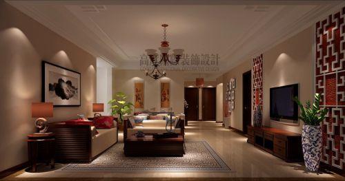 新中式风格三居室客厅沙发装修效果图大全
