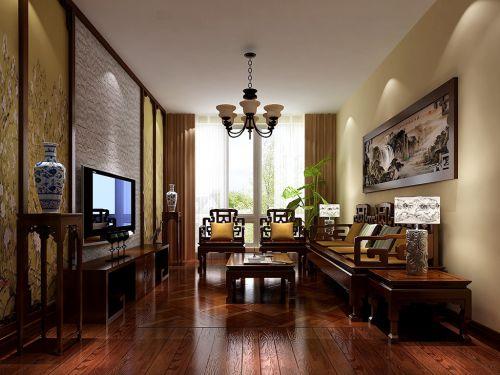 中式风格四居室客厅沙发装修效果图