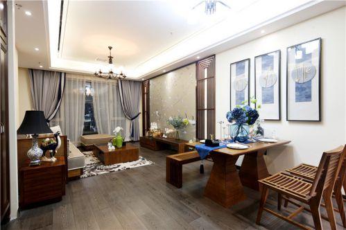 中式风格二居室客厅隔断装修效果图欣赏