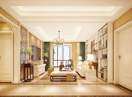 中式风格三居室客厅沙发装修效果图