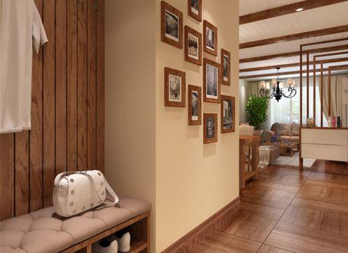 中式风格二居室客厅吊顶装修效果图欣赏