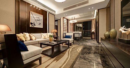 中式风格二居室客厅茶几装修效果图大全