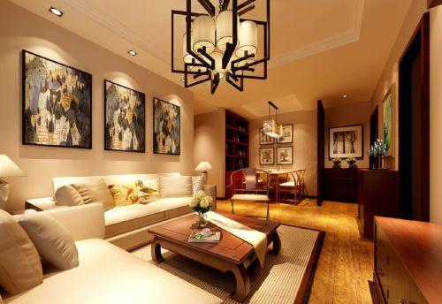 中式风格二居室客厅沙发装修图片