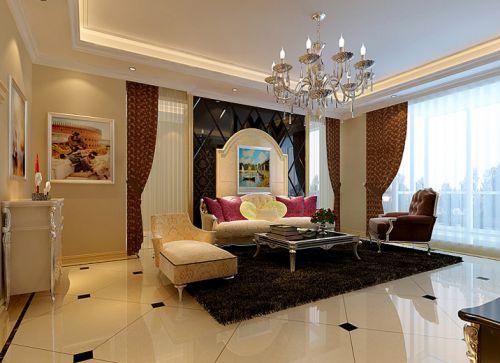 中式风格二居室客厅飘窗装修图片