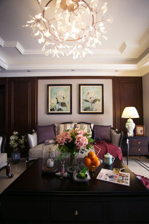 艺术文雅欧式风格客厅灯具装修设计