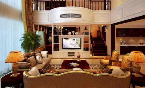 欧式风格五居室客厅窗帘装修效果图欣赏