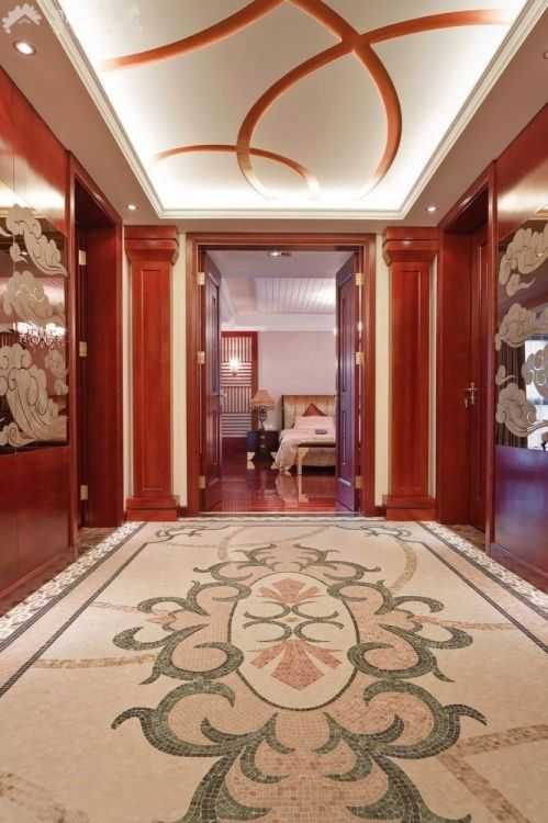 欧式混搭风格三居室客厅装修效果图