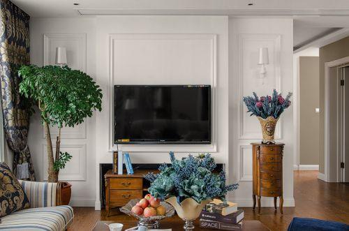 典雅欧式风格客厅电视柜装修效果图