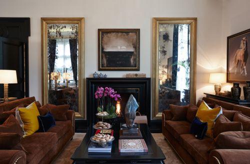 温暖舒适欧式风格客厅装修实景图