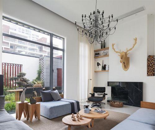 明亮宽敞的欧式风格客厅电视背景墙设计