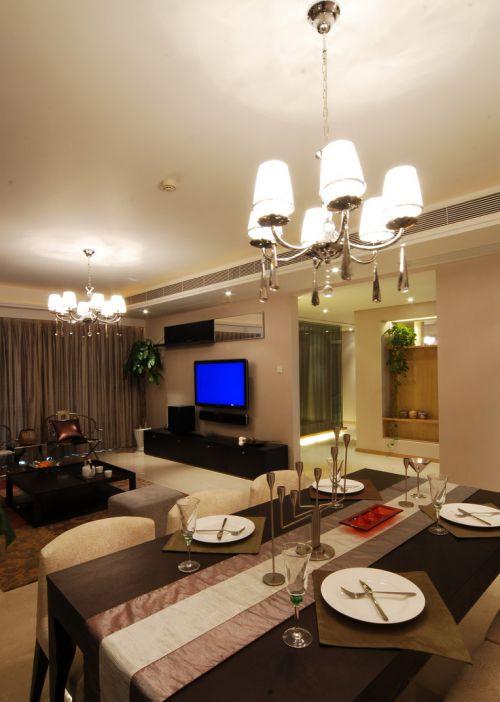 高档欧式风格客厅餐桌效果图