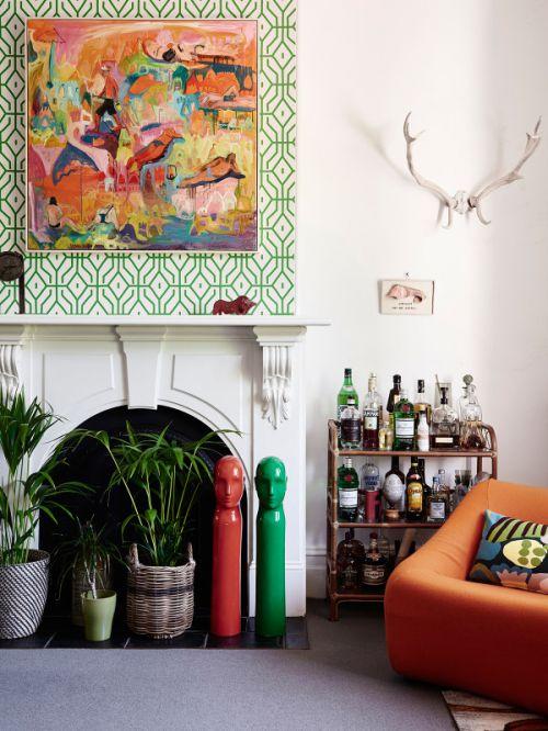 时尚欧式风格客厅背景墙装修图片