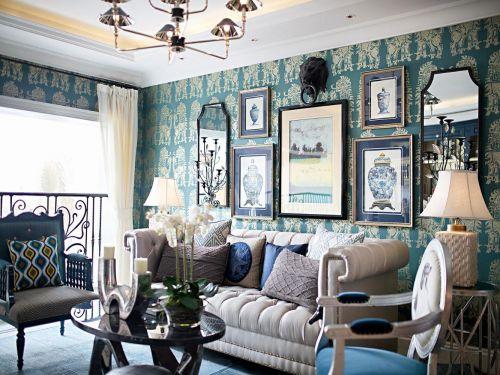 经典欧式风格客厅背景墙装修设计图